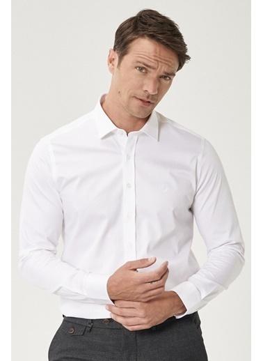 Beymen Business 4B2000000011 Siyah Slim Fit Gömlek Saten Beyaz